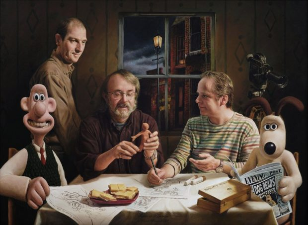 Supper at Aardman Vincent Brown Acrylic on poplar, 80 x 110 cm, 2008