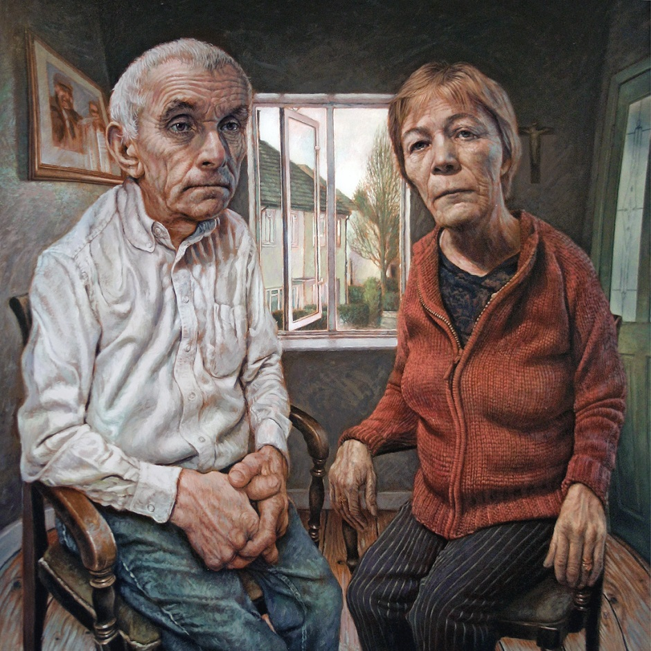 Artists' Parents (after Dix) Vincent Brown Oil and acrylic on board, 60 x 60 cm, 2006