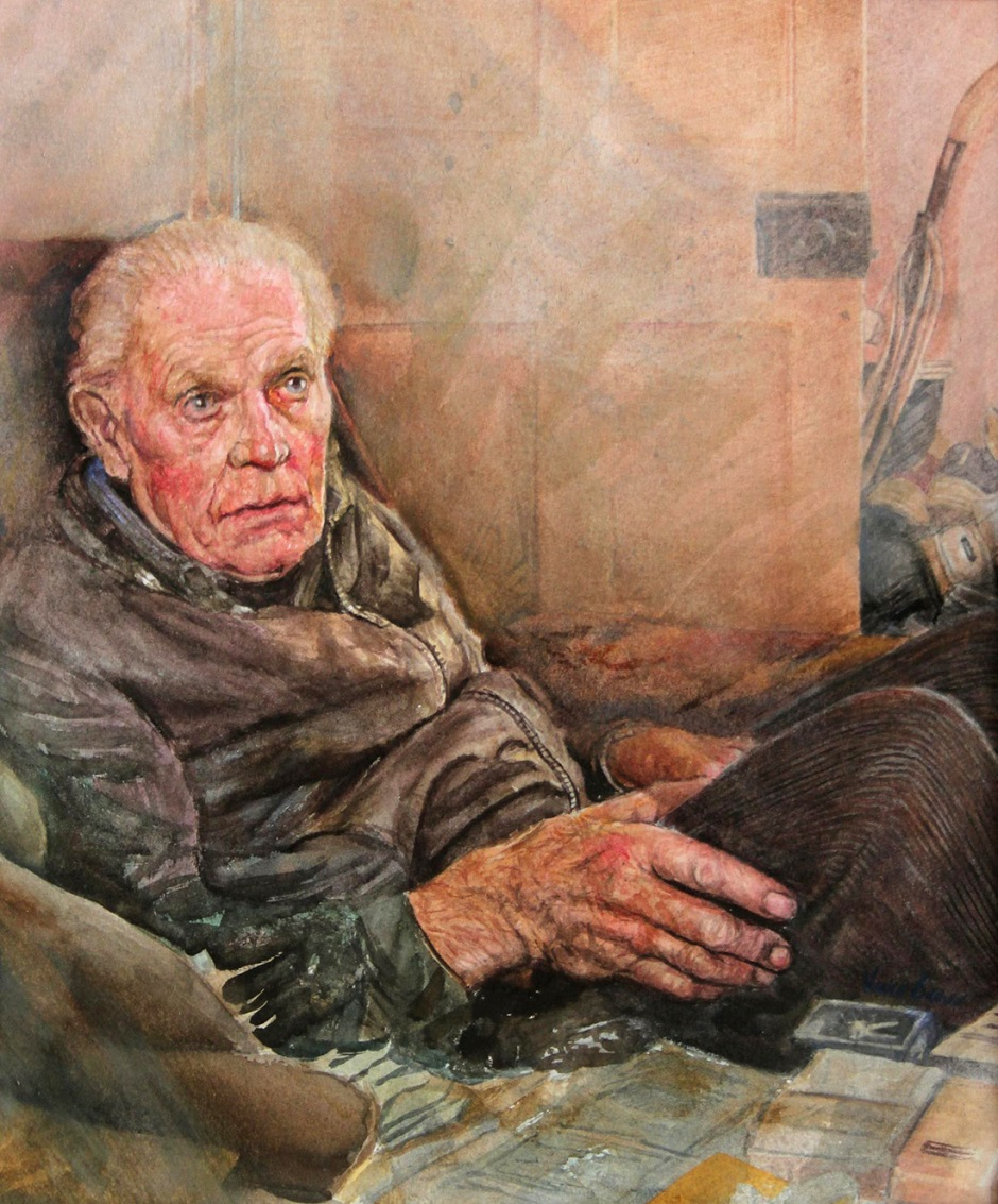 Old man Vincent Brown Watercolour on paper, 30 x 25cm, 2016