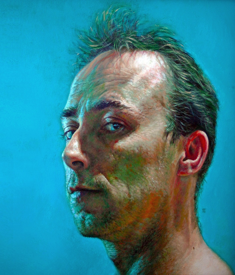Self portrait Vincent Brown Acrylic on board, 30 x 25cm, 2006