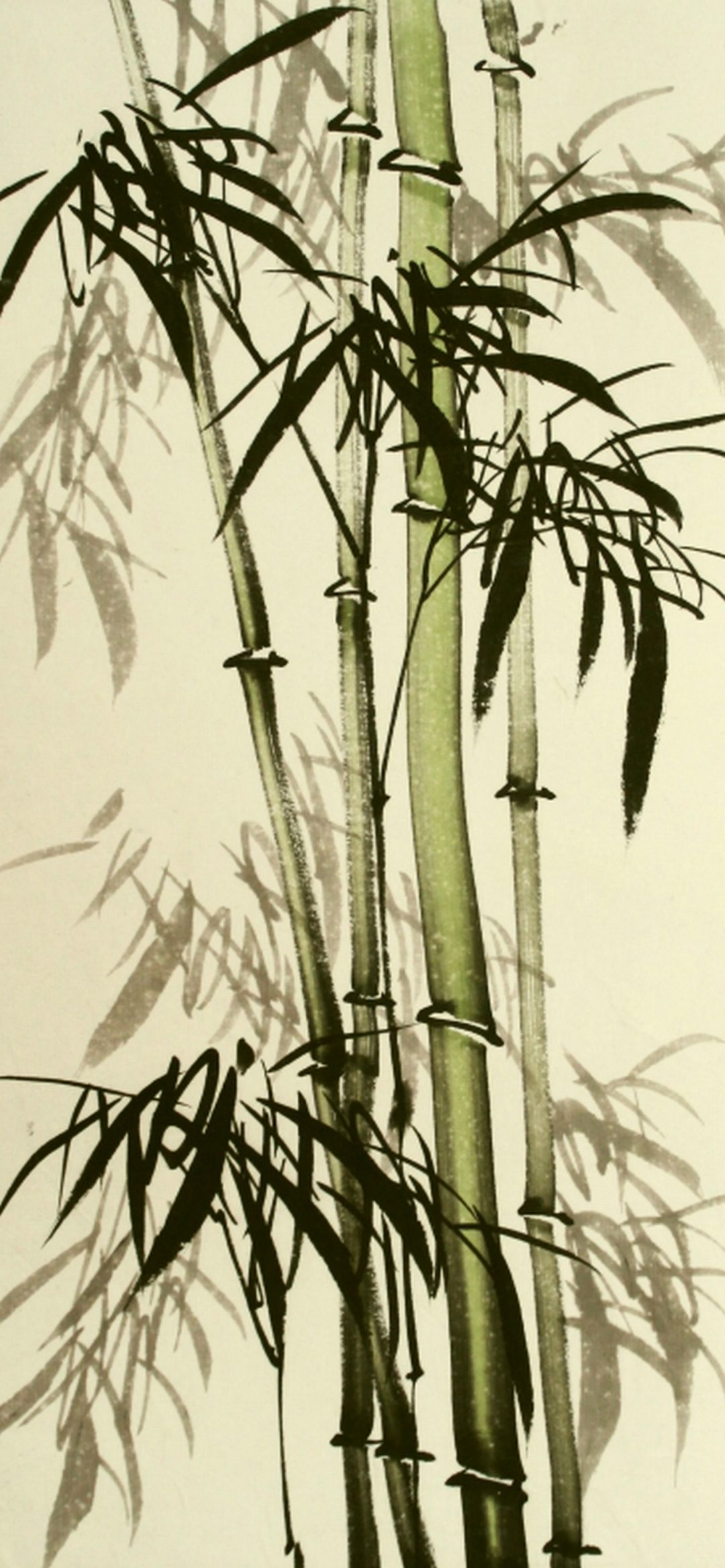 Traditional Chinese bamboo painting Maggie Cross Chinese Watercolour on paper