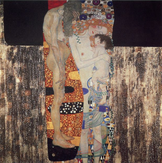The Three Ages of Woman Gustav Klimt oil on canvas, 180cm x 180cm, 1905