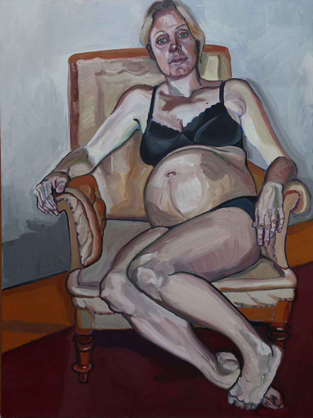 Waiting for Rex Susanne du Toit Oil on canvas, 102 x 75 cm, 2015