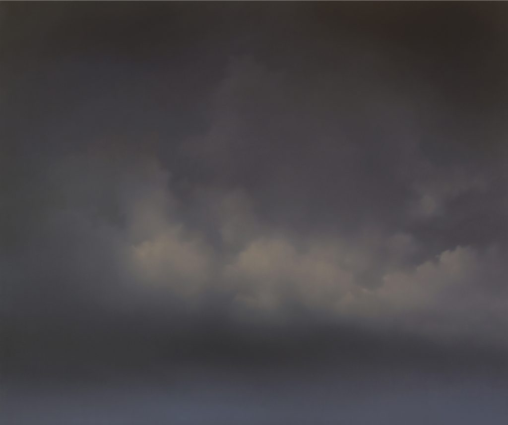 Cumulonimbus Indigo Jenny Pockley Oil on gesso, 152cm x 182cm