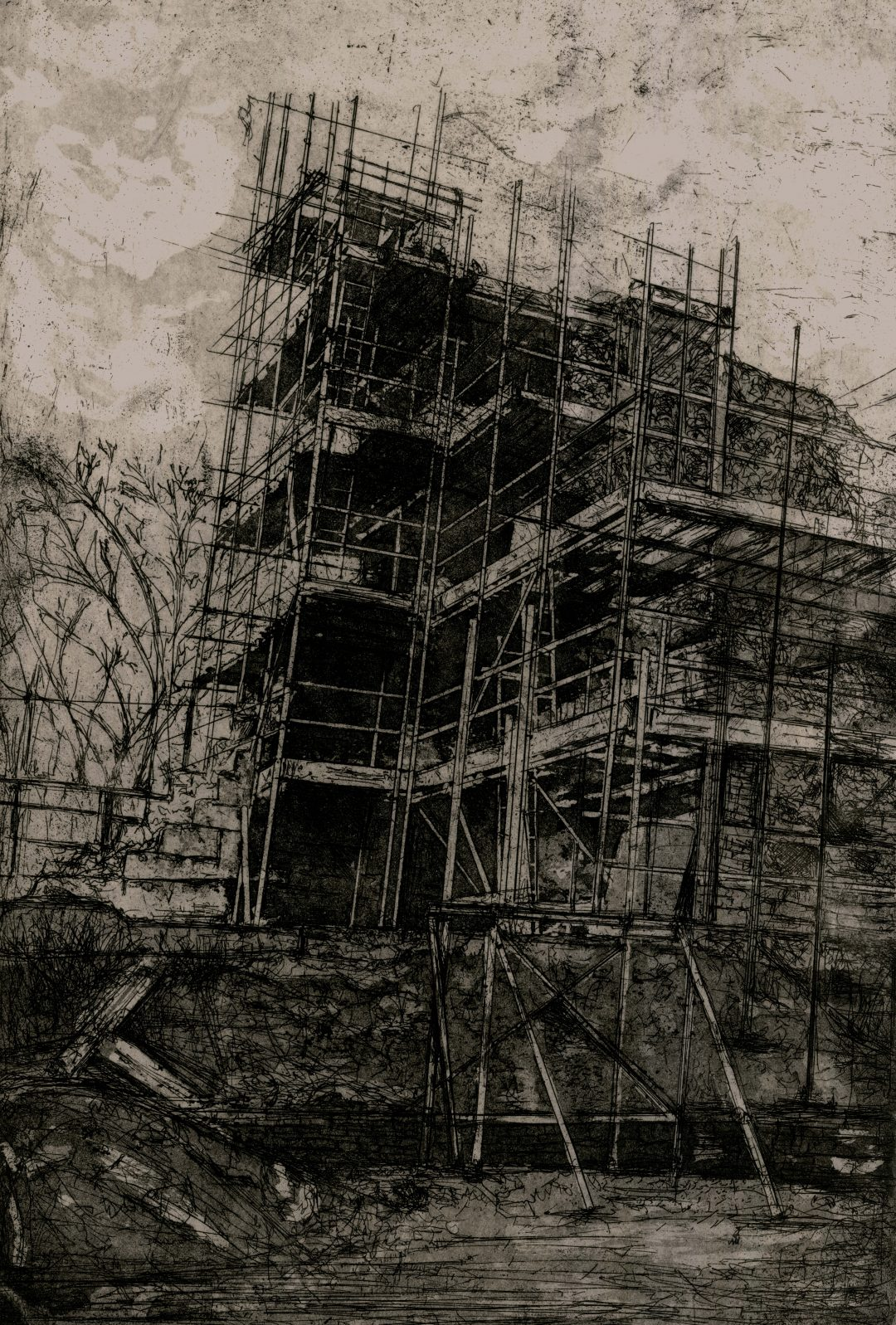 New Gaol Development Jemma Gunning Etching, 2016