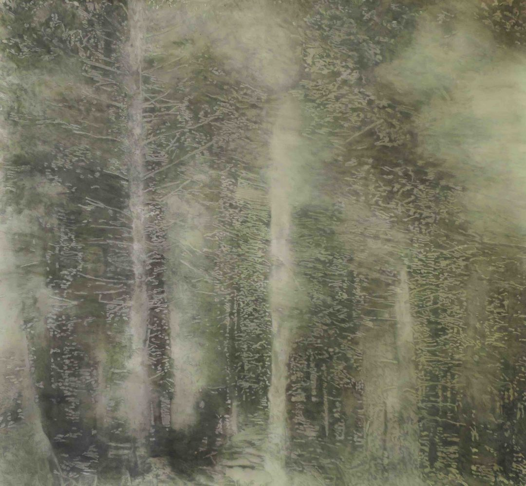 Into The Woods Sophie Benson Pigment, graphite and acrylic on paper, 152cm x 159cm