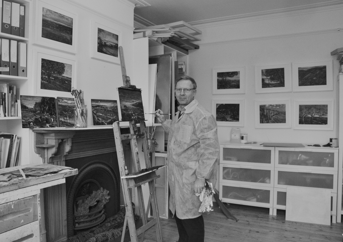 Louis Blondiau in his studio