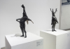 Fertility Figure IV and Fertility Figure I Tim Shaw RA Bronze, 2008 (Installation shot from 'By Popular Demand', Mall Galleries, 2017)