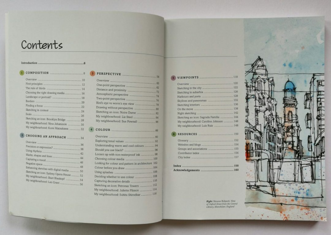 The Contents page of Archisketcher by Simone Ridyard