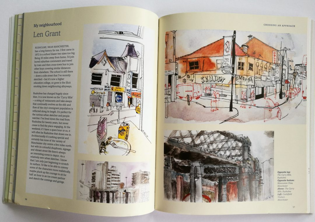My Neighbourhood Pages showcasing work by Len Grant