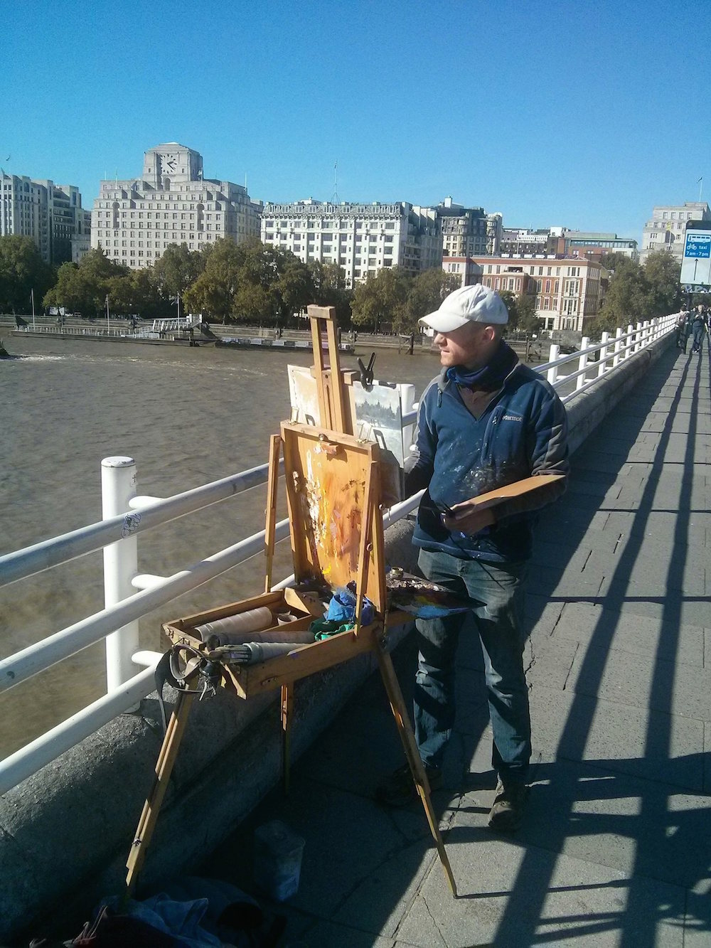 Benjamin Hope: At work on Waterloo Bridge