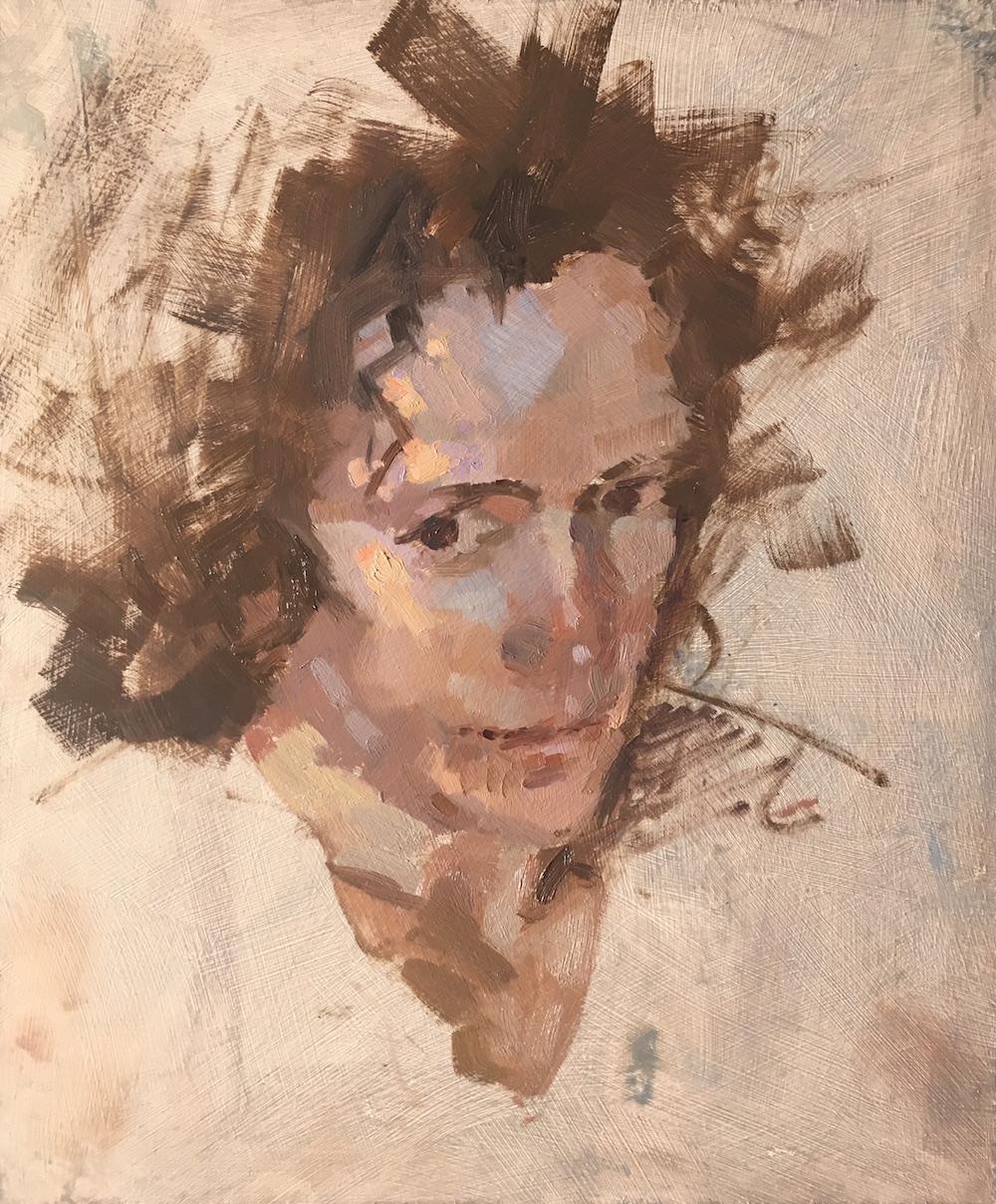 Kitty Benjamin Hope Oil on board, 25 x 30 cm, 2017