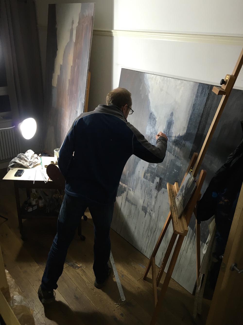 Benjamin Hope: At work in studio