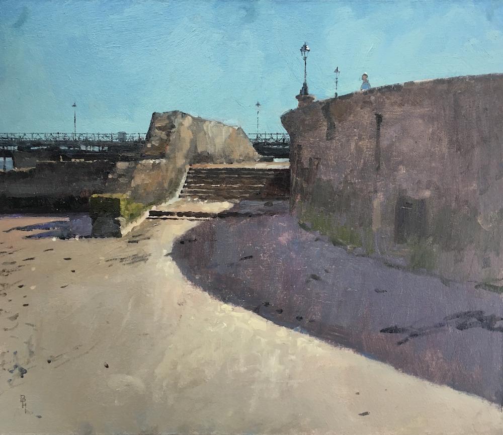 Sea Wall, Ryde Benjamin Hope Oil on board,36 x 30 cm, 2017