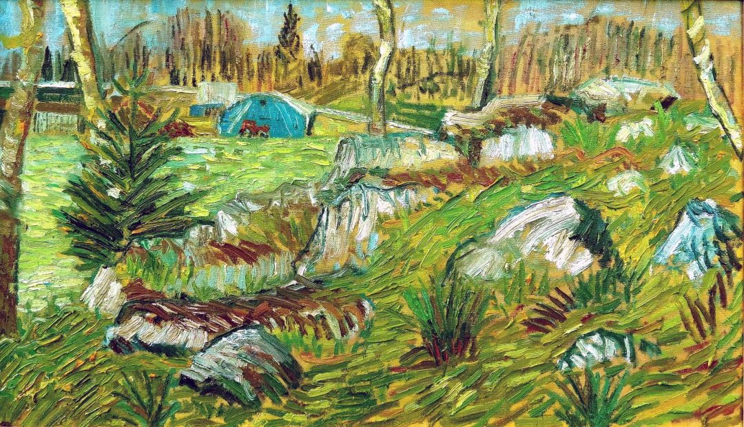 'Blue Tent From The Forest' John Maclean Oil on canvas, 70 x 50 cm, 2016