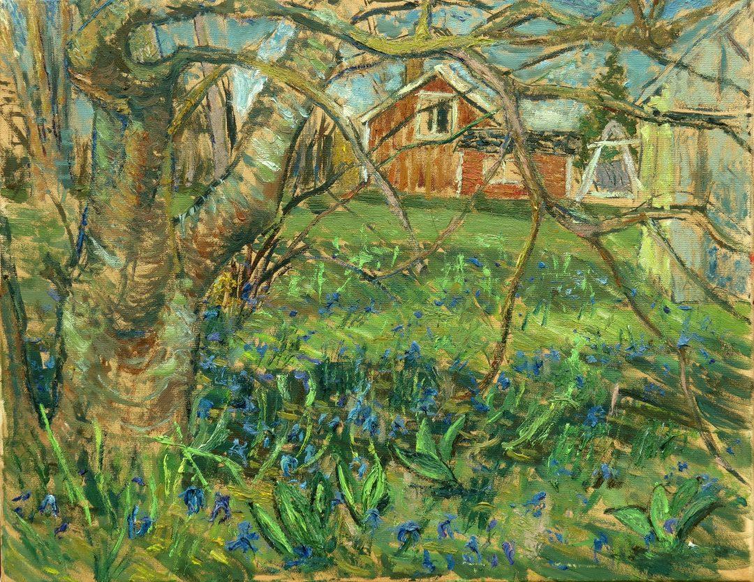 'New Flowers' John Maclean Oil on canvas, 70 x 54cm, 2017