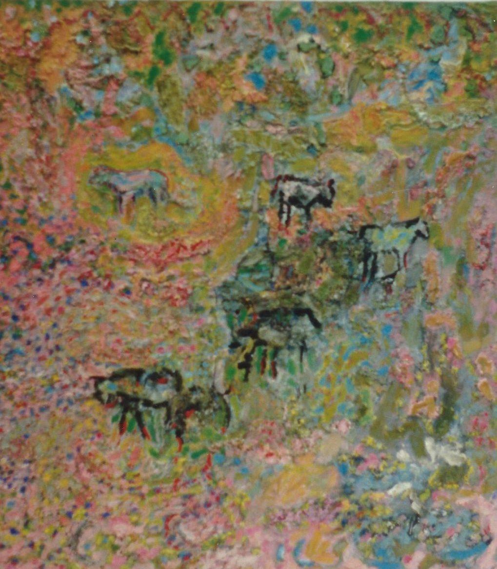 'Oxen of the Sun' Anna Hansford Oil on canvas, 127 x 102cm
