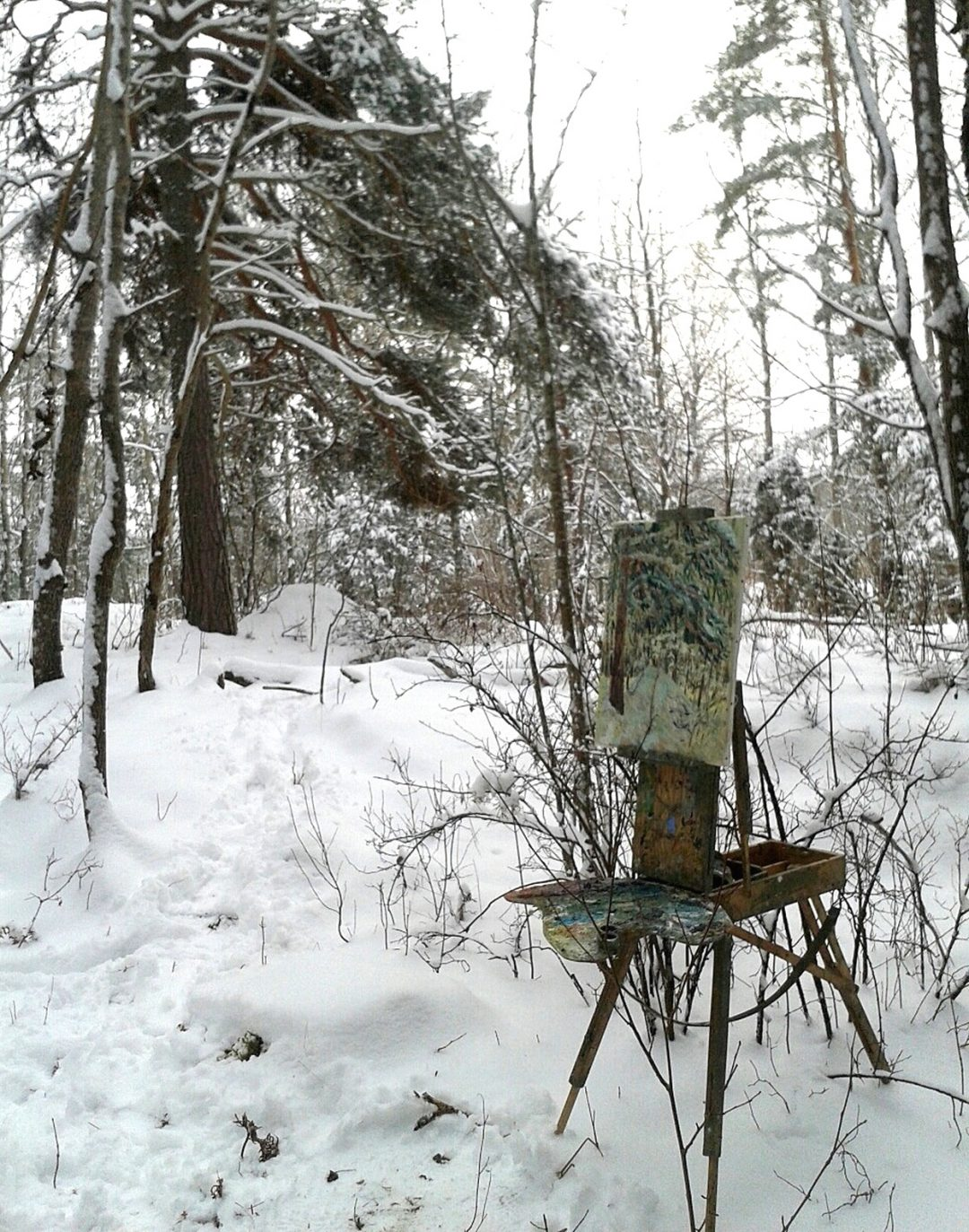 John Maclean: Painting in heavy snow
