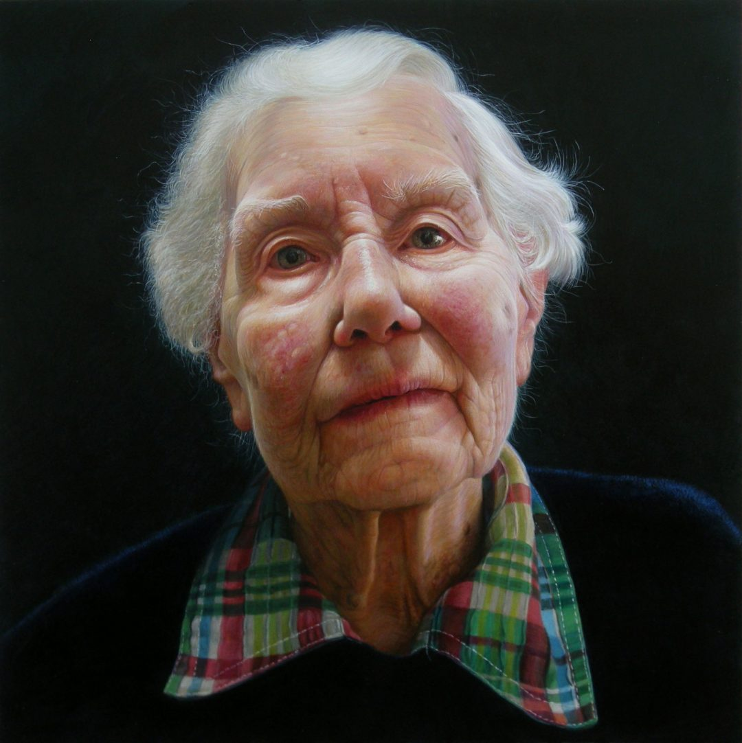 "'Pamela Newel Sellers' Leslie Watts Egg tempera on panel, 12 x 12"", 2013"