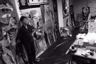 Michael Restrick in his studio
