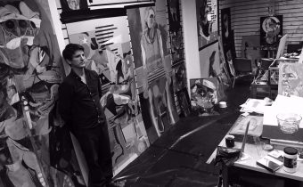 Michael Restrick in his studio