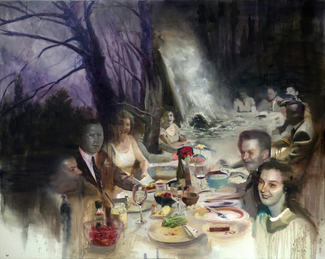 "'The Banquet' Joshua Flint Oil on canvas, 48"" x 60"", 2015"