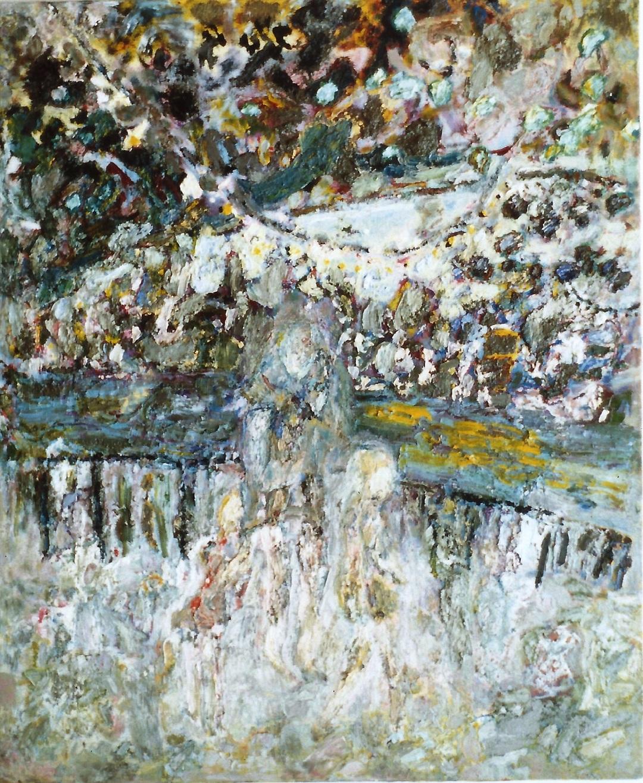 'Under Bridge, South Bank' Anna Hansford Oil on canvas, 154 x 128cm