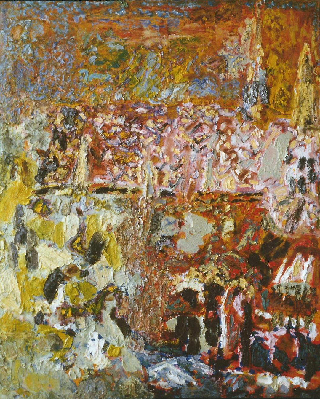 'Vista, Budapest' Anna Hansford Oil on canvas, 147x117cm