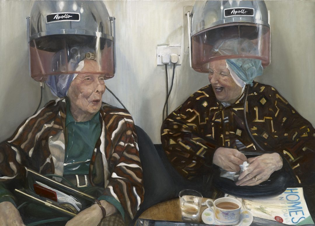 'Mrs Damon and Mrs Healey (2nd version)' Teri Anne Scoble Oil on canvas, 50x70cm