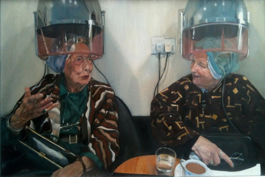 'Mrs Damon and Mrs Healey' Teri Anne Scoble Oil on board, 50 x 76 cm, 2013 (Included in the BP Portrait Award 2013)