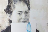 'Sheet' Angela Bell Oil on gesso panel, 25 x 25cm, 2017