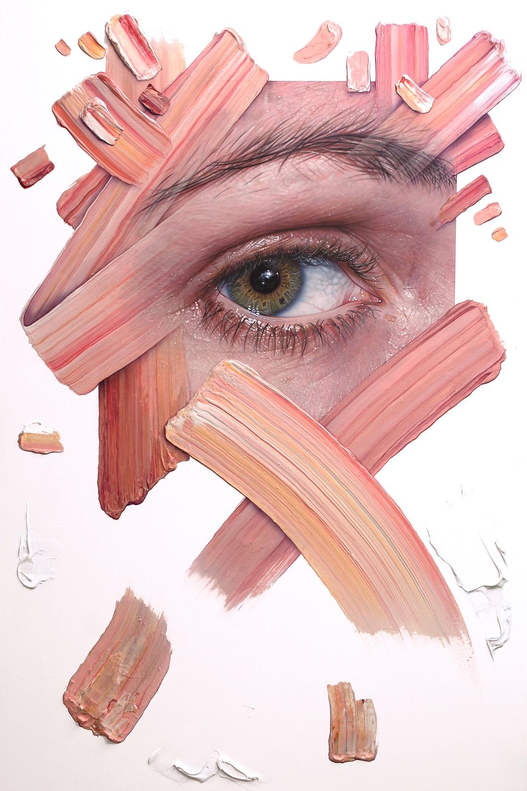 'A Meticulous Disorder' Simon Hennessey Acrylic on Panel, 96cmx 65cm, 2017