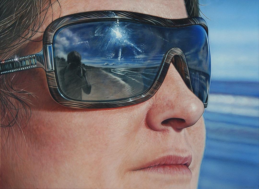 'Down by The Sea' Simon Hennessey Acrylic on Illustration board, 51cm x 37cm, 2013