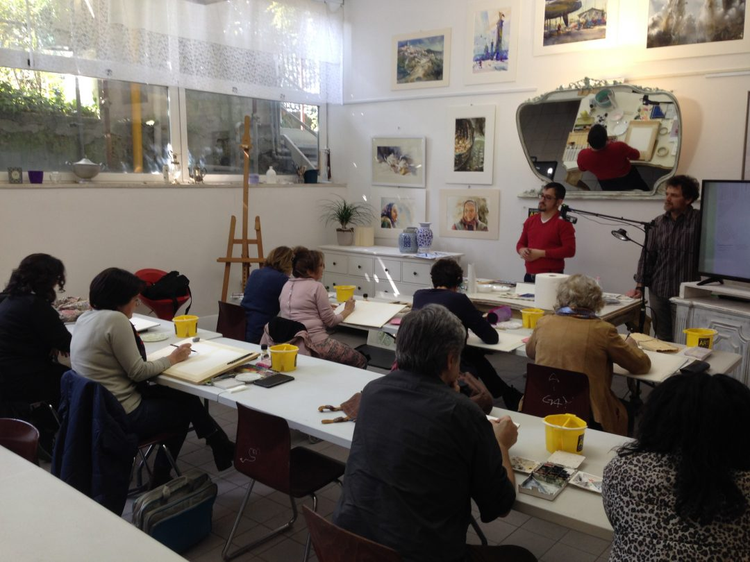 Giovanni Balzarini running a workshop, 2017
