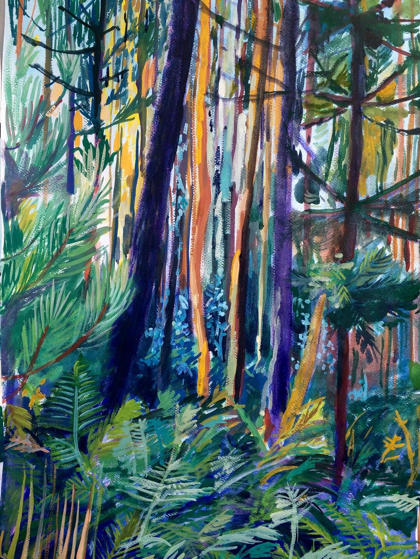 Forests of Sandim Elizabeth McCarten Gouache on Paper