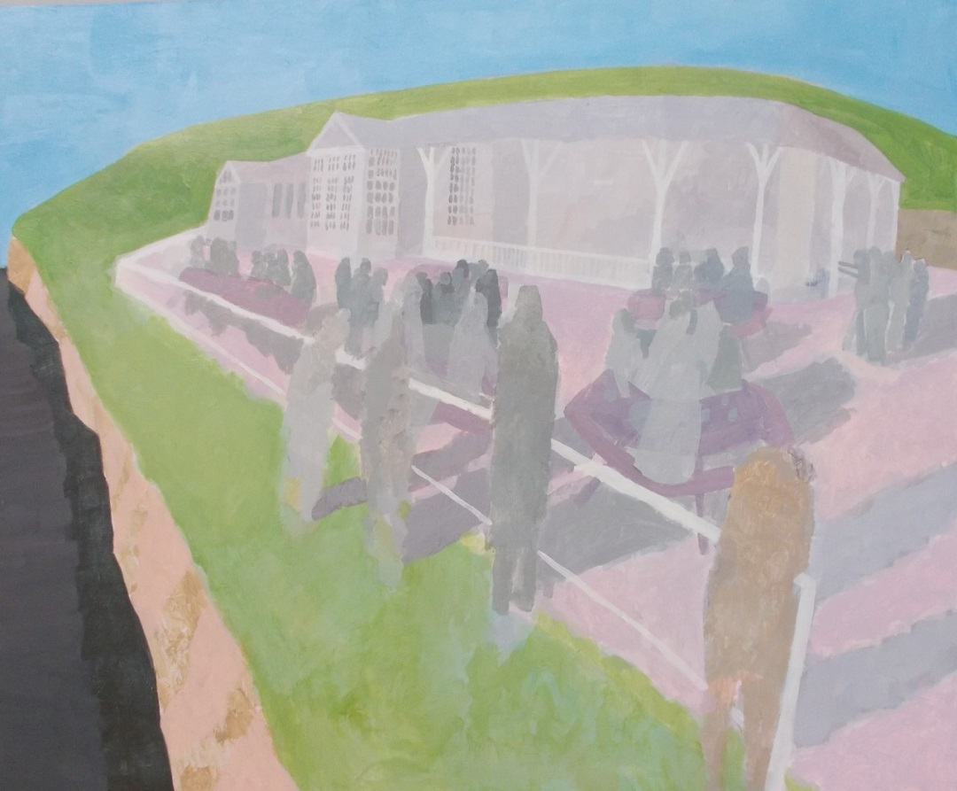 Study for Birling Gap Michael Collins Acrylic, 60 x 130 cm