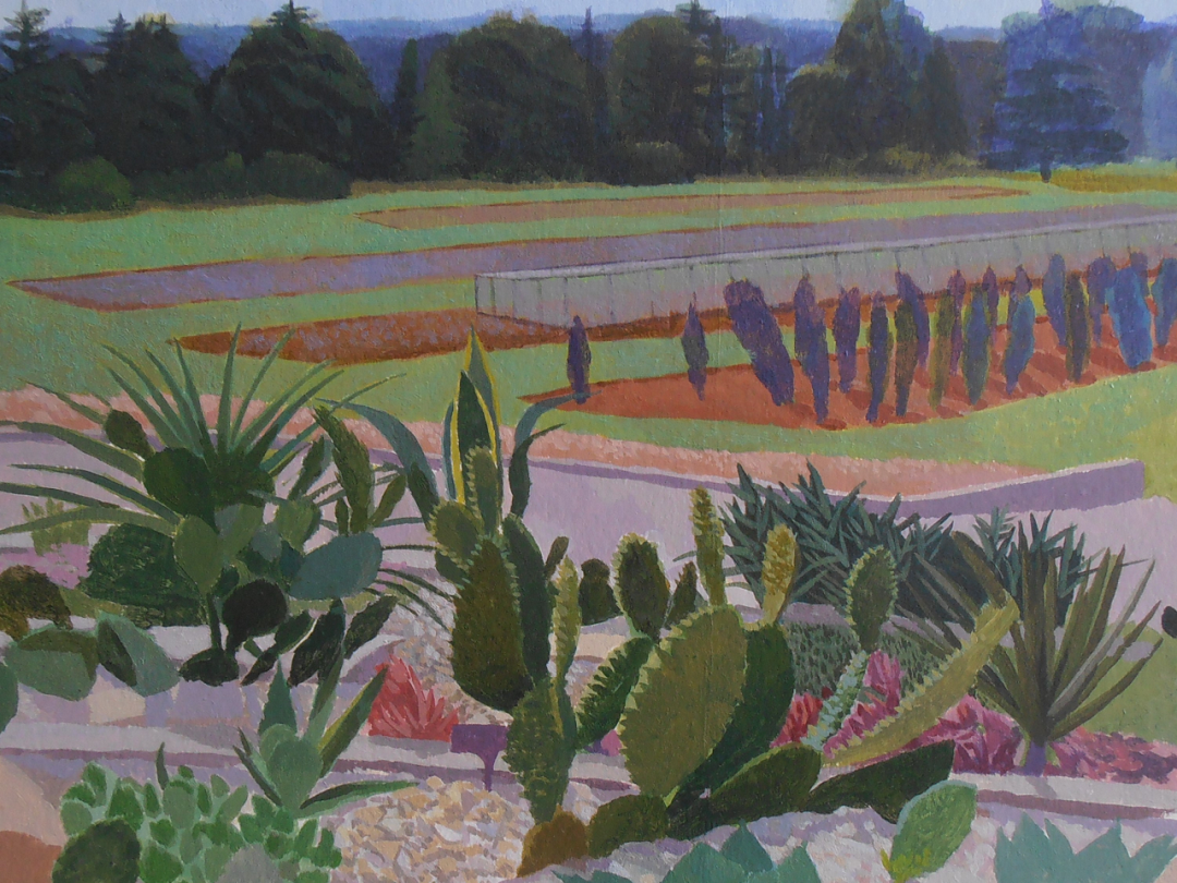 Cacti at Wisley Michael Collins Acrylic (work in progress)