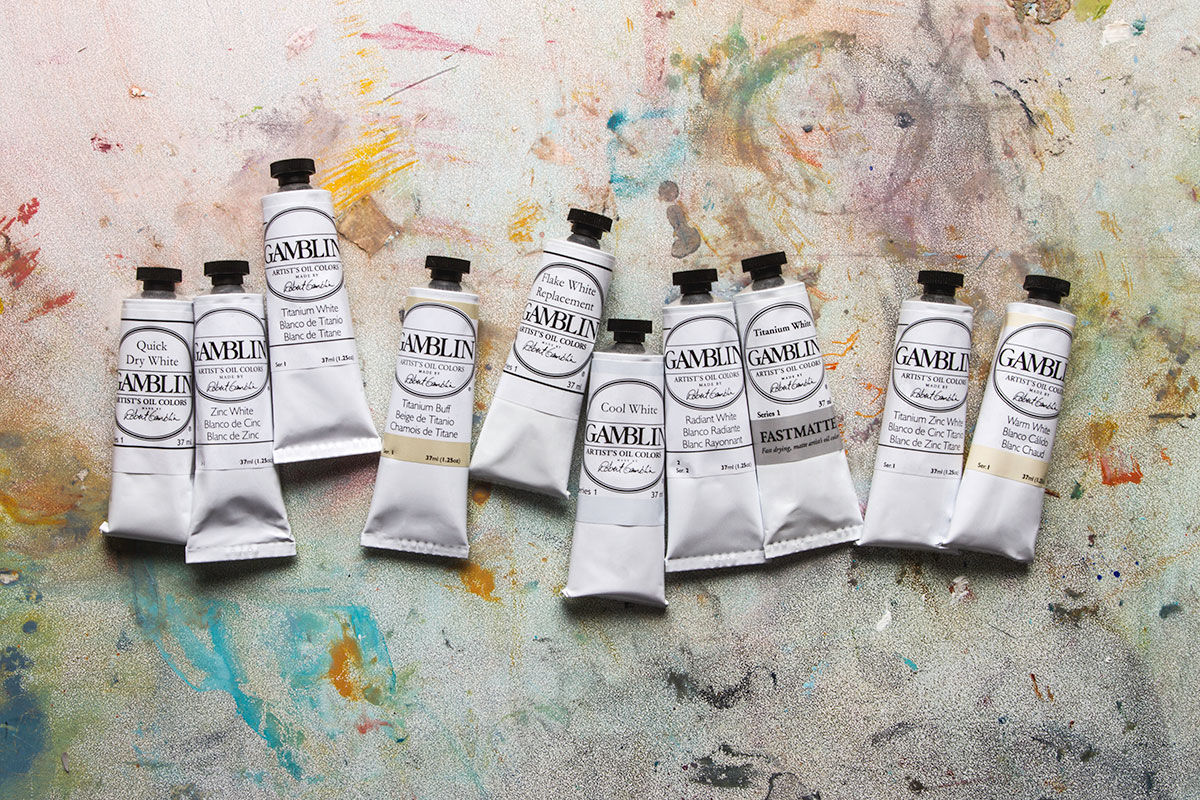 The Gamblin Artists Oil Colours range has ten whites.