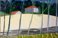 Golden Field Elizabeth McCarten Oil on primed paper, 600mm x 600mm, 2017
