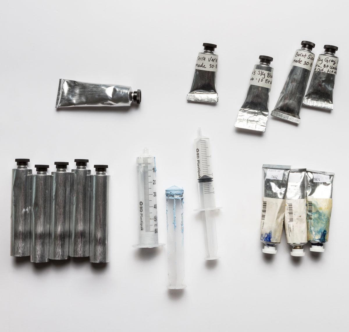 Jackson's Empty oil paint tubes