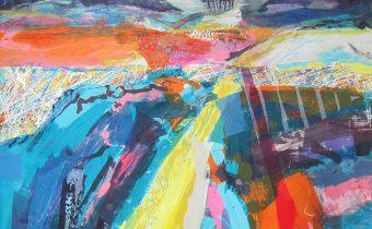 'Copse' Gail Mason Silkscreen Monotype, 75cm x 75cm