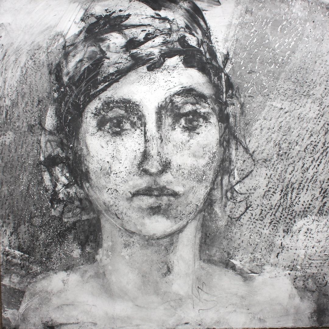 'Rosa' Gail Mason Silkscreen Monotype, 56.5cm x 56cm