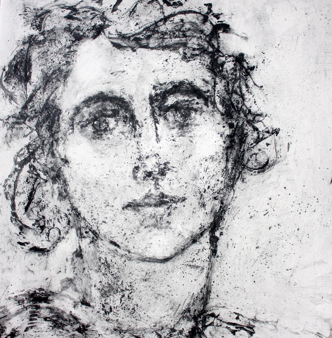 'Hesta' Gail Mason Silkscreen Monotype, 56.5cm x 56cm