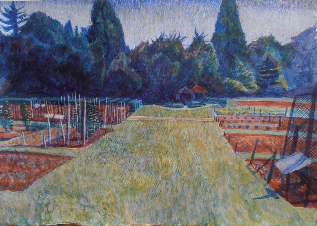 'Wisley Study 2' Michael Collins Egg Tempera, 2014