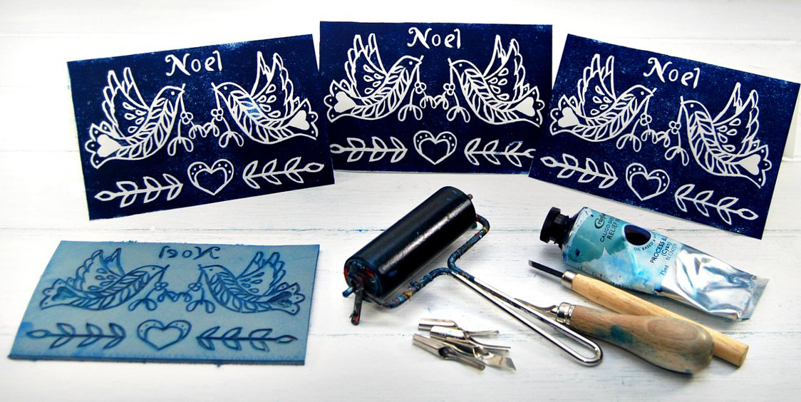 Linocut cardmaking inspiration jacksons art blog