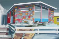 'Chalet' Paul Crook Acylic on canvas, 95cm x 125cm