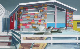 'Chalet' Paul Crook Acylic on canvas, 95cm x 125cm