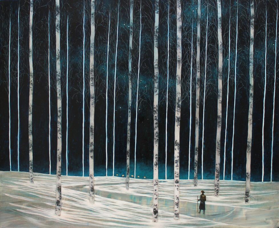 Daniel Ablitt, Along the Path (constellation), oil on panel, 120cm x 100cm