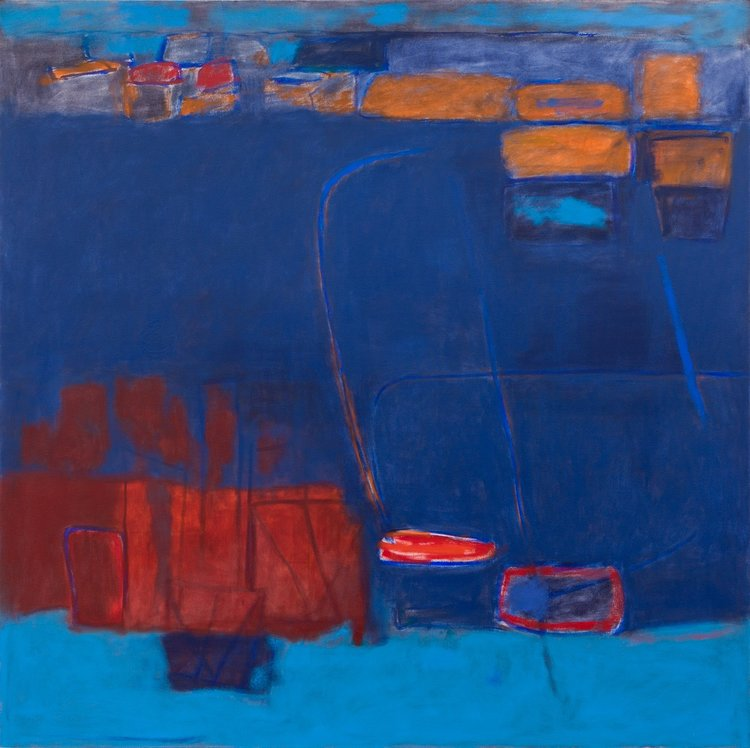 Helen Douglas-Cooper, Blue, 152x152cm, Oil on canvas