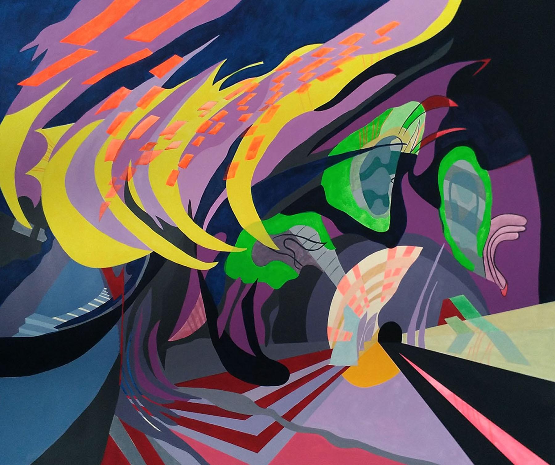 'Imagen multifocal 3' Paula Nahmod Acrylic on canvas, 90 x 110 cm, 2017
